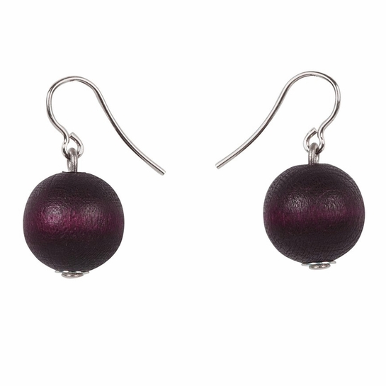 aarikka Karpalo Plum Earrings
