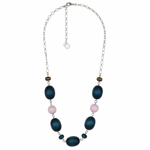 aarikka Kastanja Navy / Lilac / Brown Necklace