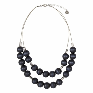 aarikka Lauha Dark Blue Necklace