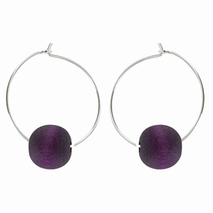 aarikka Kehra Dark Lilac Earrings