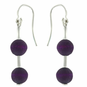 aarikka Pippuri Dark Lilac Earrings