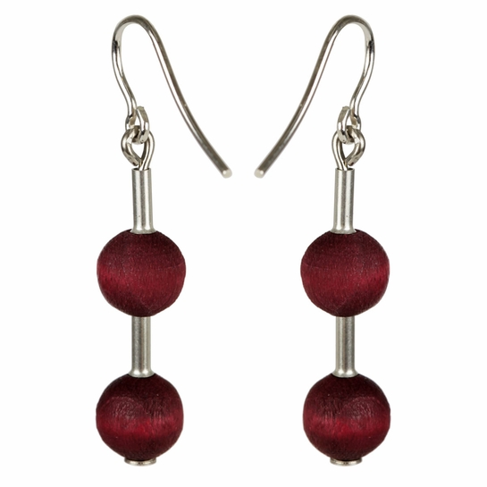 aarikka Pippuri Dark Red Earrings