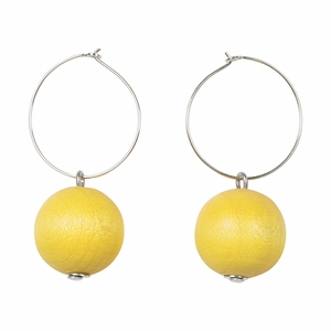 Aarikka Polte Yellow Earrings