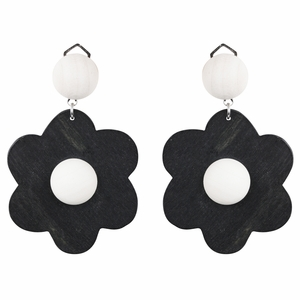 aarikka Rentukka Black / Ivory Clip-On Earrings