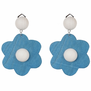 aarikka Rentukka Indigo / Ivory Clip-On Earrings