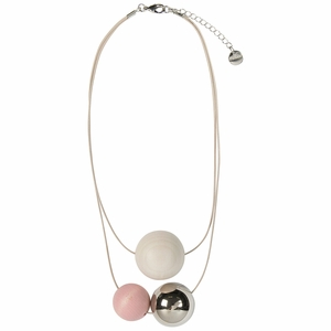Aarikka Tellus Light Pink / Ivory Necklace