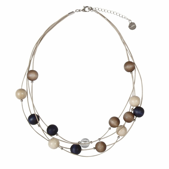 Aarikka Vilkas Navy Necklace
