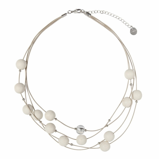 aarikka Vilkas White Necklace
