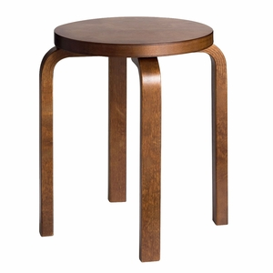 Artek Alvar Aalto E60 - Four Legged Stool - Walnut Stained