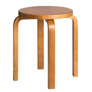 Artek Alvar Aalto Stool E60 - Three Legged Stool - Honey Stained