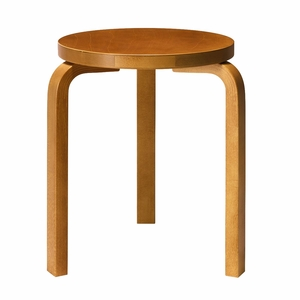 Artek Alvar Aalto Stool 60 - Three Legged Stool - Honey Stained