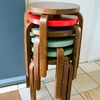 Artek Alvar Aalto Stool 60 - Three Legged Stool - Walnut Stained
