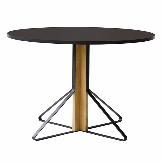 Artek Kaari REB 004 Black Linoleum / Natural Oak Round Table