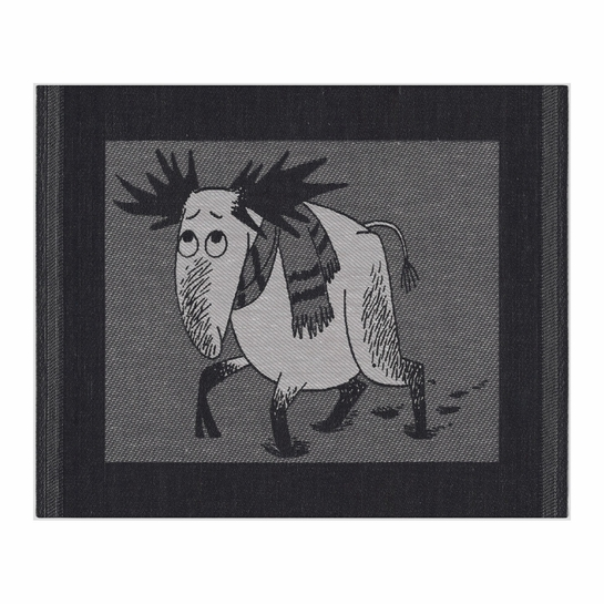 Ekelund Moomin Hirvi Black Dishcloth