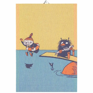 "Ekelund Moomin My & Stinky ""Save the Baltic Sea"" Tea Towel"