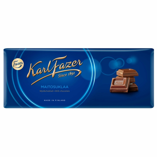 "Fazer ""Blue"" Milk Chocolate Bar - 7 oz"