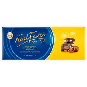 Fazer Milk Chocolate with Hazelnuts Bar - 7 oz