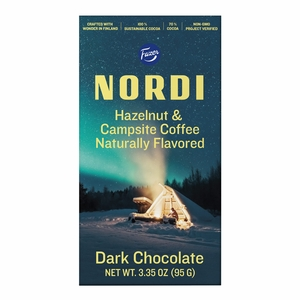 Fazer Nordi Hazelnut & Campsite Coffee Dark Chocolate Bar
