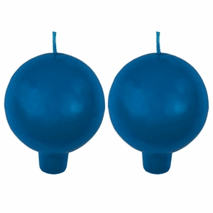 Festivo Blue Ball Candles - Set of 2