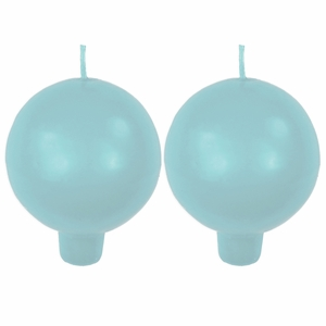 Festivo Light Blue Ball Candles - Set of 2