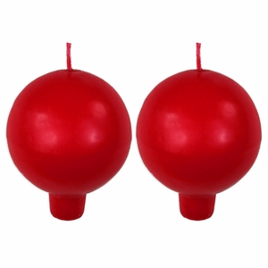 Festivo Red Ball Candles - Set of 2