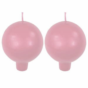 Festivo Rose Ball Candles - Set of 2