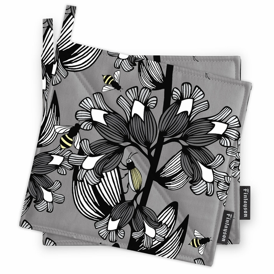 Finlayson Alina Grey Pot Holder Set