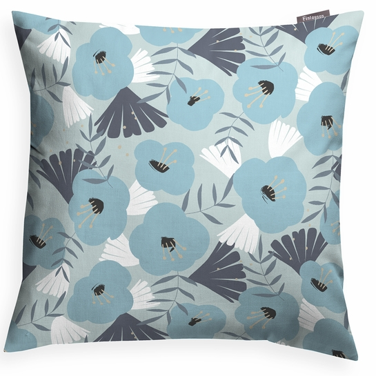 Finlayson Pieni Anni Aqua / Turquoise Throw Pillow