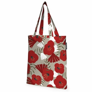Finlayson Anni Beige / Red / Gold Tote Bag