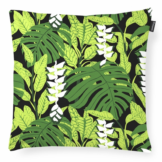 Finlayson Bunaken Black / Green Throw Pillow
