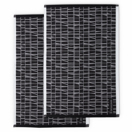 Finlayson Coronna Black Tea Towels Set