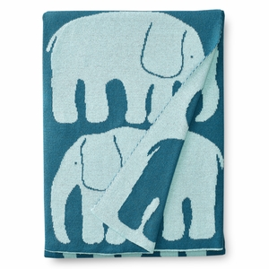 Finlayson Elefantti Blue / Turquoise Baby Blanket