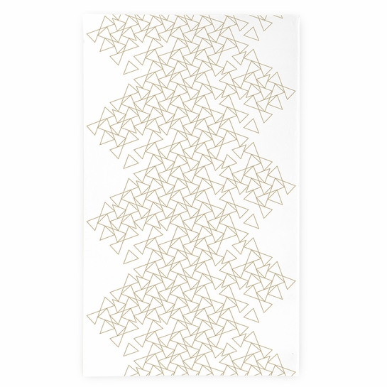 Finlayson Kronos White / Gold Tablecloth