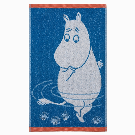 Finlayson Moomintroll Reflection Blue Hand Towel