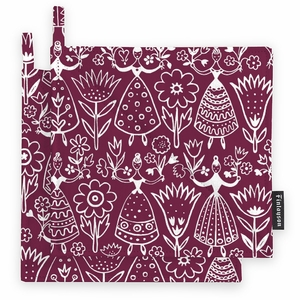 Finlayson Neidot Burgundy Pot Holder Set