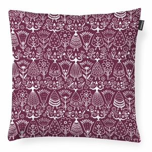 Finlayson Neidot Burgundy Throw Pillow