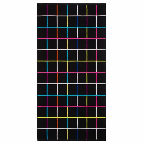 Finlayson Raiku Black / Multi Bath Towel