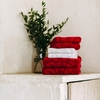 Finlayson Rosette Red Bath Towel