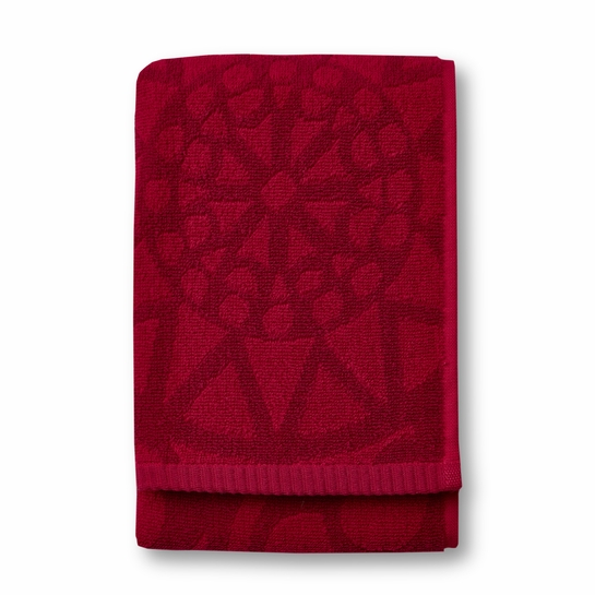 Finlayson Rosette Red Hand Towel
