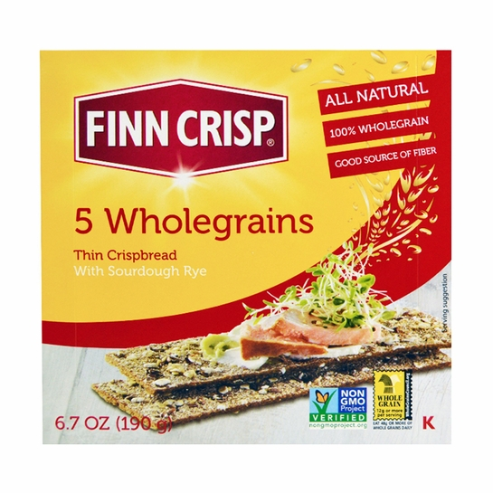 Finn Crisp 5 Wholegrain Sourdough Rye Thins