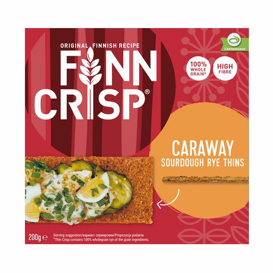 Finn Crisp Caraway Sourdough Rye Thins