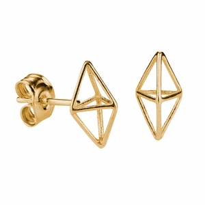 FinnFeelings Himmeli Gold Post Earrings