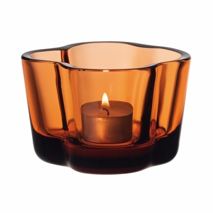 iittala Aalto Seville Orange Candle Holder