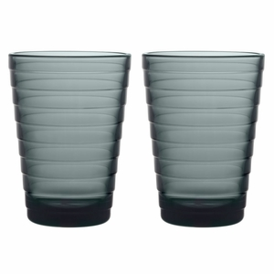 iittala Aino Aalto Dark Grey Large Tumblers - Set of 2