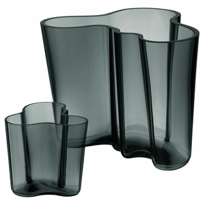 iittala Dark Grey 140th Anniversary Aalto Vase Gift Set