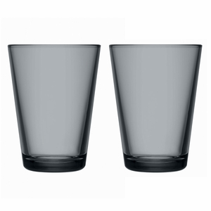 iittala Kartio Dark Grey Large Tumblers - Set of 2