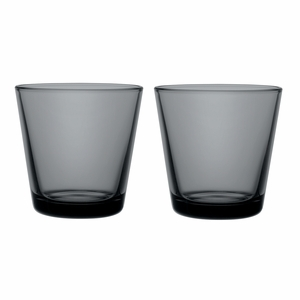 iittala Kartio Dark Grey Medium Tumblers - Set of 2