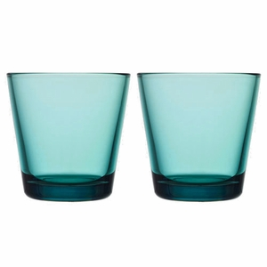 iittala Kartio Sea Blue Medium Tumbler - Set of 2