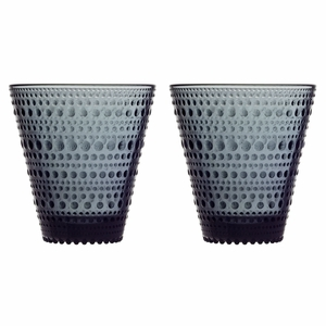 iittala Kastehelmi Dark Grey Tumblers - Set of 2