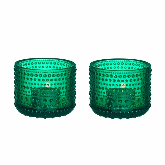 iittala Kastehelmi Emerald Candle Holder Set